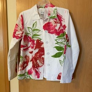 Chico's lined summer print jacket